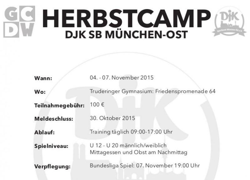 GCDW Herbstcamp 2015 – Jetzt schnell Anmelden