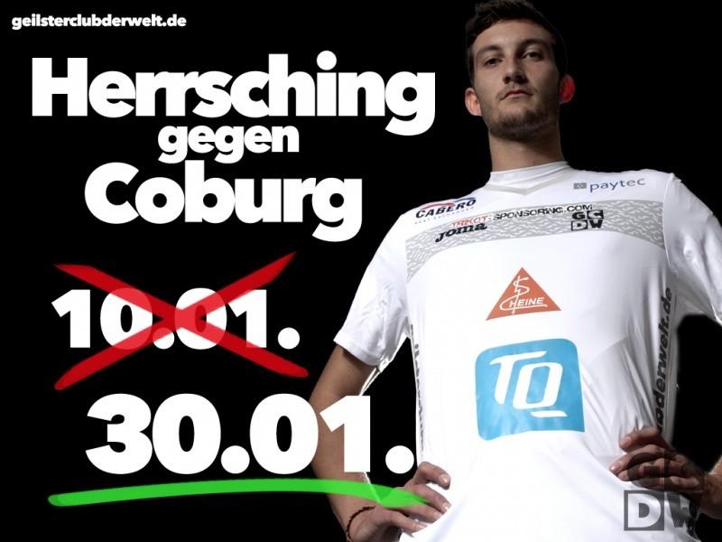 Herrsching gegen Coburg - Spielverlegung auf 30.01.!