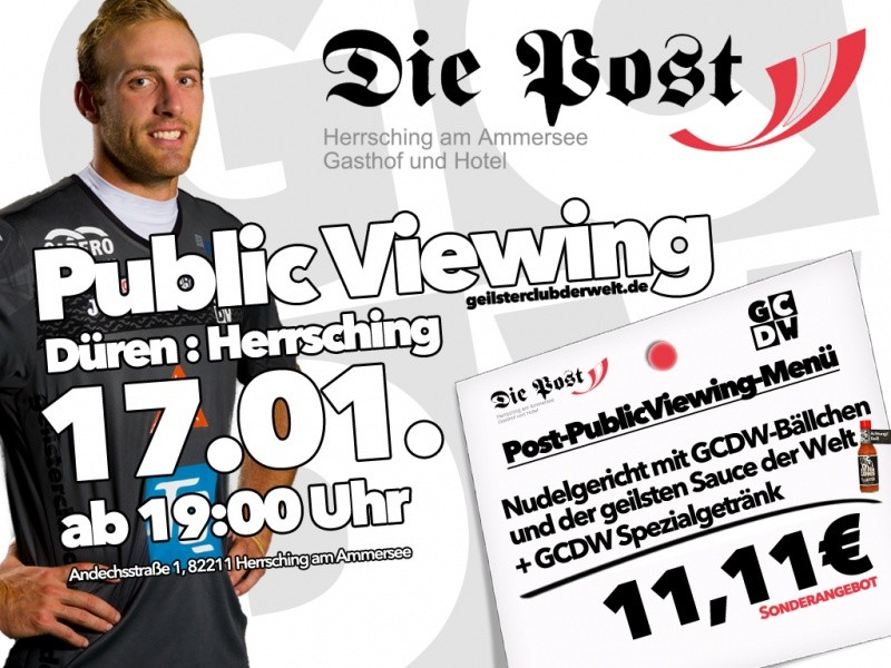 PublicViewing in der Post